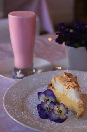 Cradock's Schreiner Tea Room : The famous Schreiner Tea Room milkshake and lemon meringue pie.