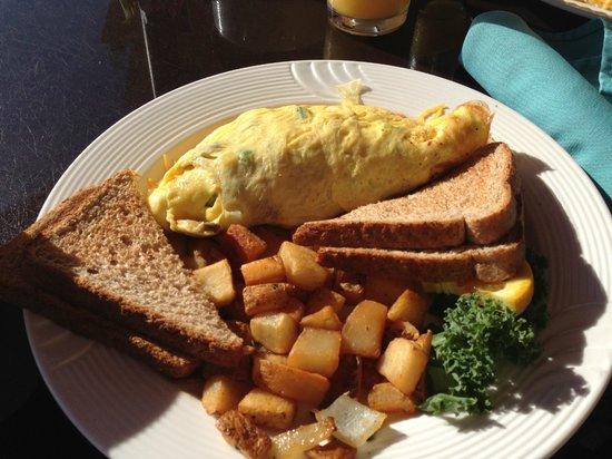 Holiday Inn Resort Daytona Beach Oceanfront: Frühstück auf der Terrasse im Restaurant