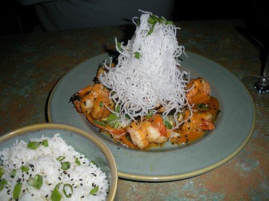 Basmati's Asian Cuisine : Thai Red Curry Shrimp