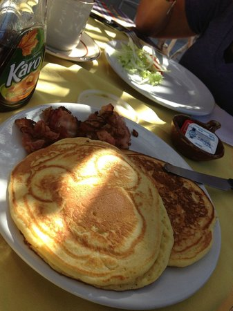 Baja Paradise: My daughter's pancake breakfast at the cafe here