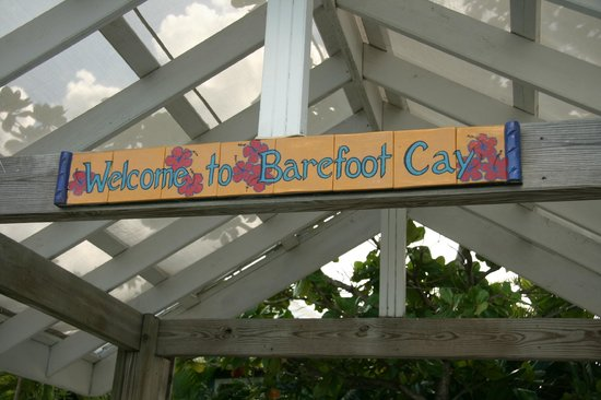 Barefoot Cay Resort: Welcome sign