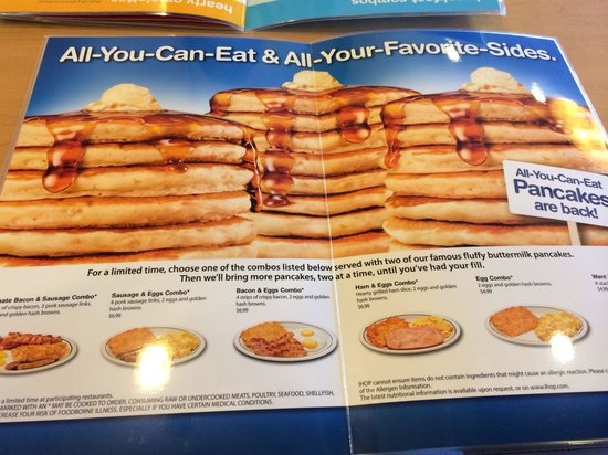 IHOP: All Youtube can Eat!!! Awesome!!! Límited promo!!!