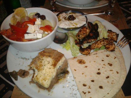 Gibraltar Taverna Mediterranea: Menù greco