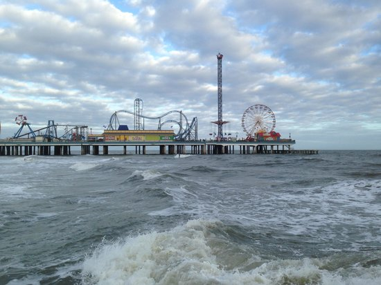Galveston Island Historic Pleasure Pier The From A Nearby Jetty