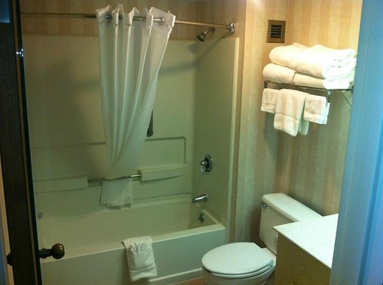 New Victorian Inn & Suites : Clean and inviting bathroom with the softest towels!