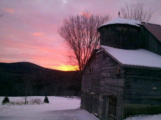 Golden Stage Inn Bed and Breakfast: A soul-warming winter sunset in Okemo Valley.