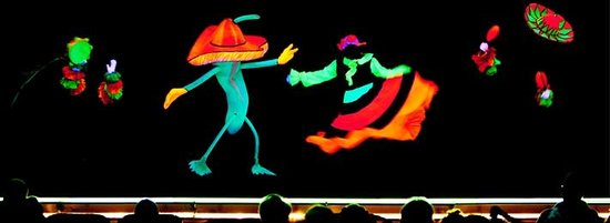 Famous People Players Dinner Theatre : Black-Light Theatre