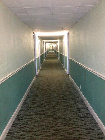 Howard Johnson Resort Hotel - ST. Pete Beach FL: hallway looking old