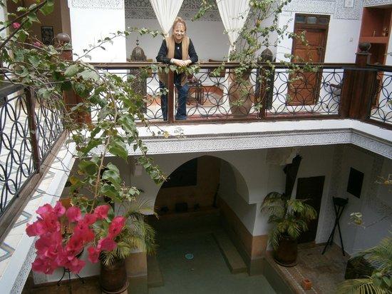 Riad Les Nuits de Marrakech : En el patio del Riad