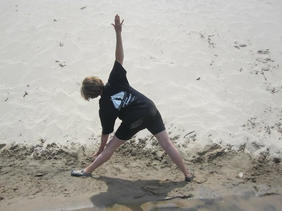 Sandbanks Yoga: Trichonasana at Sandbanks Park