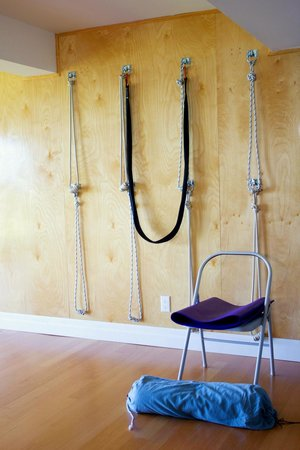 Sandbanks Yoga: Wall ropes