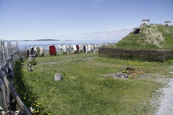L'Anse Aux Meadows National Historic Site: Skins on Fence