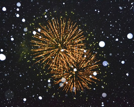 Jackson Hole Mountain Resort: NY eve fireworks in the snow