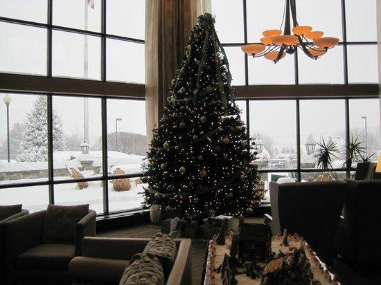 Holiday Inn Resort Lake George: Christmas tree in main lobby