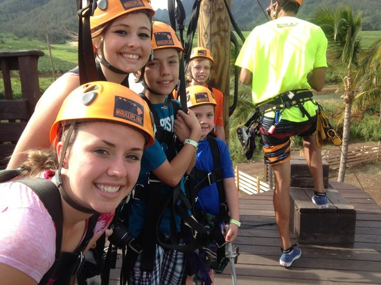 Maui Zipline Company: The kids had fun!!!