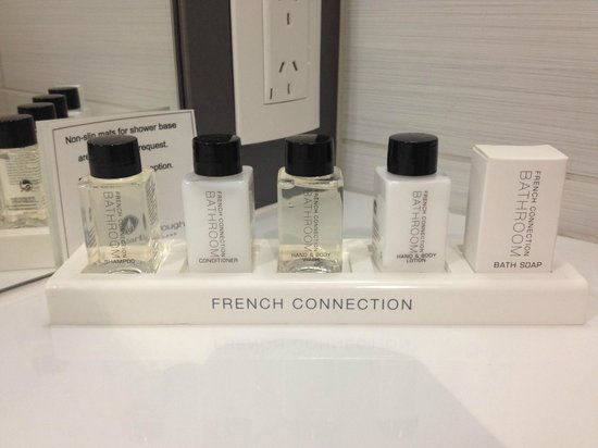 Chateau Marlborough: French Connection toiletries