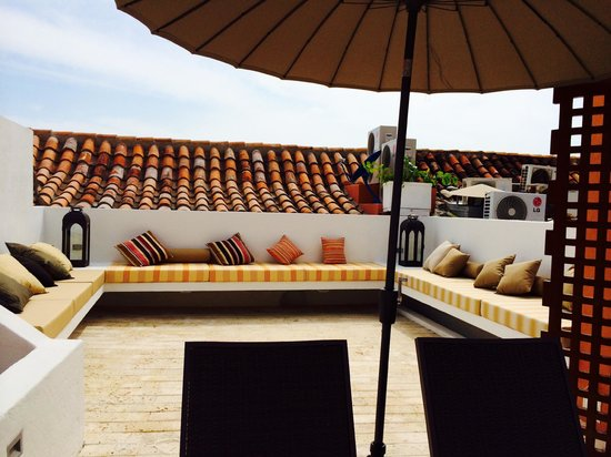 Hotel Boutique Casa del Coliseo: Rooftop pool area