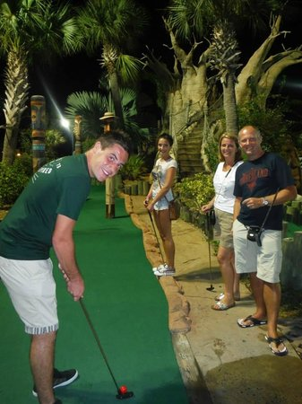 Congo River Golf : Mid-swing!