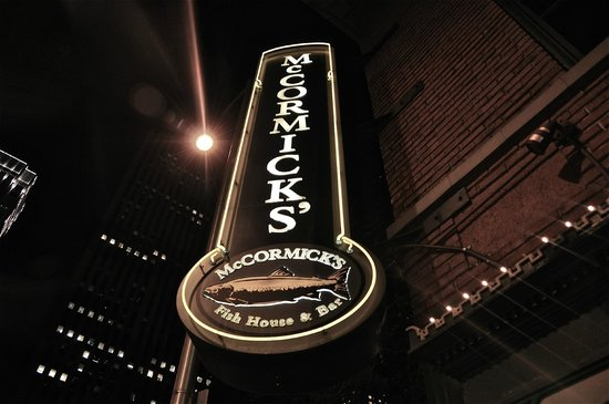 McCormick's Fish House & Bar: Exterior sign on the heritage building