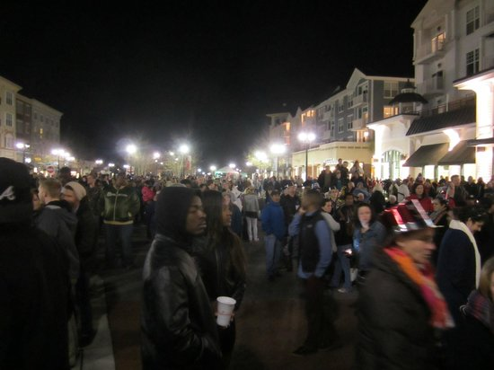 The Market Common: Looking to the left, towards the band on New Year's Eve