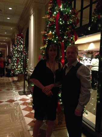 Myself and My Husband in Lobby of Chase Park Plaza