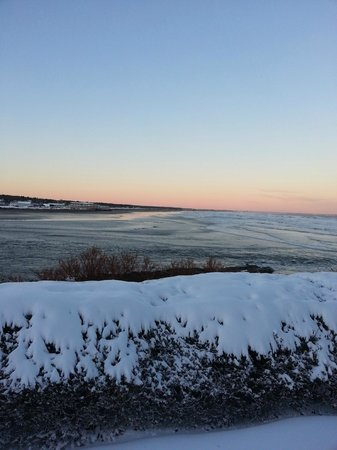 The Beachmere Inn: Beautiful view towards Ogunquit Beach from lawn at Beachmere.