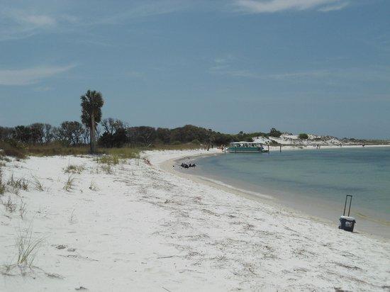 Shell Island: view down the beach