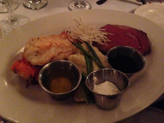 McMillin's Dining Room: Lobster Tail & Prime Rib Combo