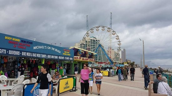 Perry's Ocean Edge Resort : I love running this broadwalk and beach  ;o)
