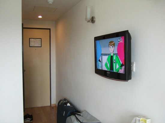 Red Fox Hotel East Delhi: Room entrance & TV