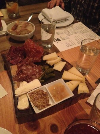 Bluebeard : cured meats, cheese, capers, pickles