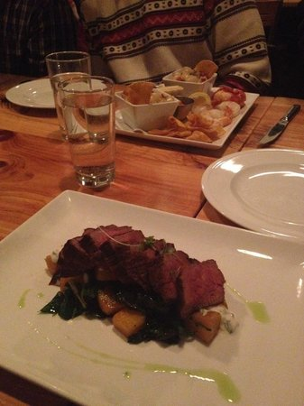 Bluebeard : Tri tip with root veggies/seafood dinner