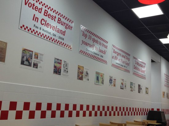 Five Guys: Love the decor