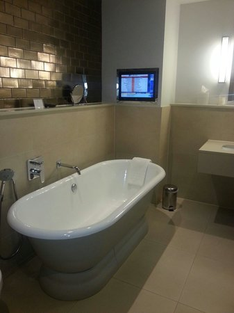 Rudding Park Hotel: What a lovely way to watch the tv. .