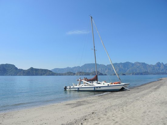 Villa del Palmar Beach Resort & Spa at The Islands of Loreto: Your catamaran on the island.