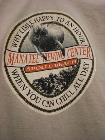 Tampa Electric's Manatee Viewing Center : Cute gift shop Tshirt