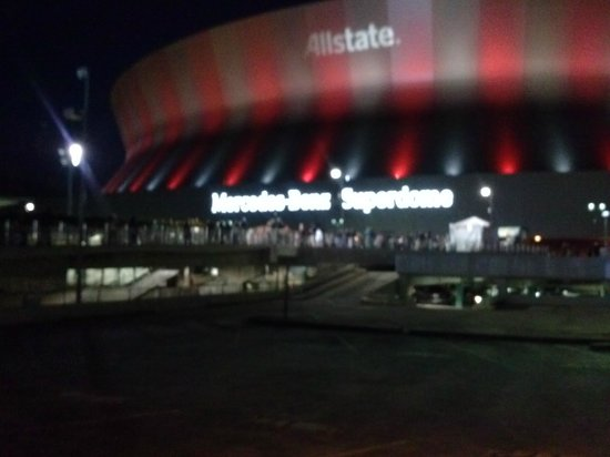 The wrestlemania 30 stage set picture of mercedes benz for Mercedes benz superdome wrestlemania 30