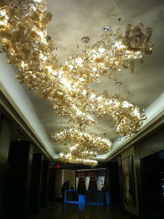 Royal Sonesta Houston Galleria: Modern Artsy Light Fixtures
