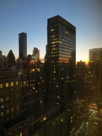 The Westin New York Grand Central: Sunrise view from the room