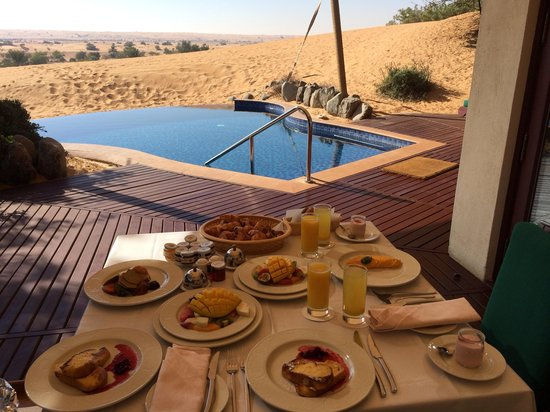 Al Maha, A Luxury Collection Desert Resort & Spa: Good morning!!