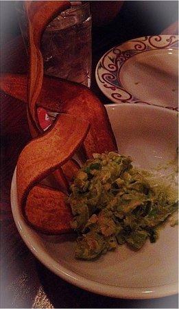 "Cuba Libre Restaurant & Rum Bar : Apps!! ""Guacamole Cubano"" special blend of guac w pineapple w/ plantain chips"