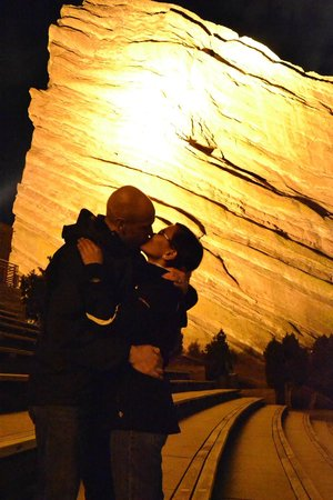 Red Rocks Park and Amphitheatre : Welcoming the New Year with a kiss at Red Rocks