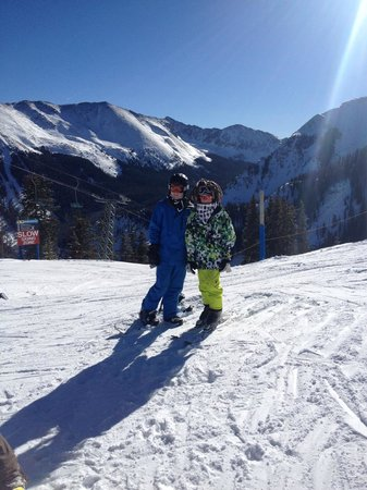 Taos Ski Valley: Boys on top of the world- Taos!