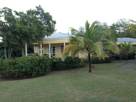 Antigua's Yepton Estate Cottages: View of the Cottage from lawn