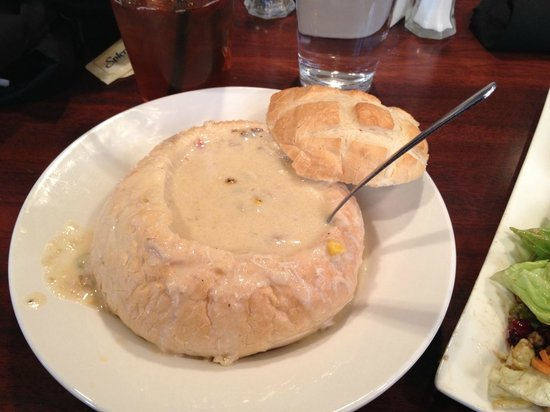 Rhoda's Restaurant: Crab & Corn Chowder in Sourdough Bread Bowl