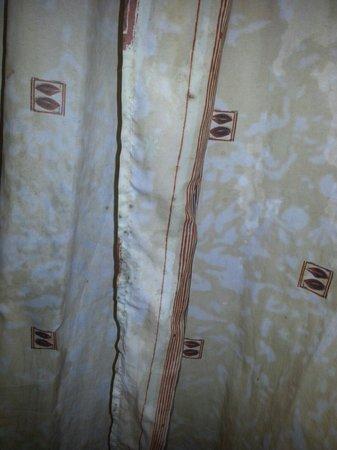 Hotel Del Corso: Tenda della doccia del bagno stanza 303