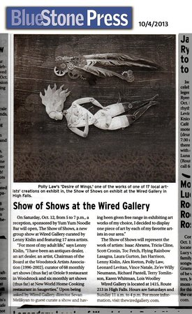 A newspaper story on Wired Gallery