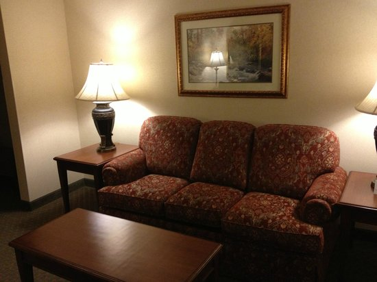 Drury Plaza Hotel St. Louis Chesterfield: Sitting area with hide-a-bed sofa