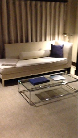The Chatwal, A Luxury Collection Hotel, New York: Small couch in 901 (fold out bed on other wall)