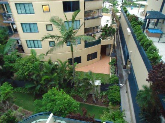 Landmark Resort: Looking down from room. 5th floor